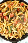 Penne Pasta with Mushrooms, Spinach, and tomatoes healthy pasta recipes