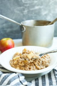 Apple Cinnamon Oatmeal Recipe with a spoonful