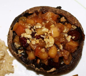 Apple Chutney-Stuffed Roasted Portobellas