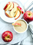 after school snack set up Healthy Simple Yogurt Peanut Butter Apple Dip