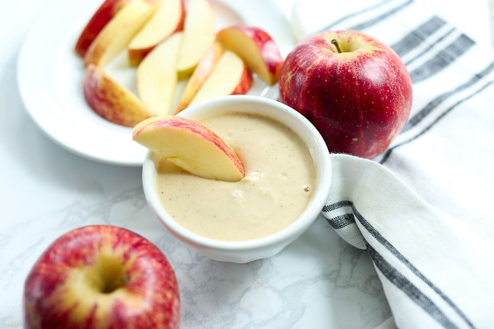 Healthy Simple Yogurt Peanut Butter Apple Dip