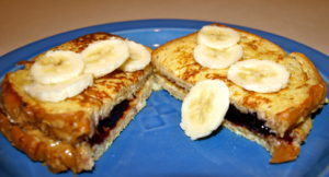Toddler Eats:  Peanut Butter and Jelly French Toast