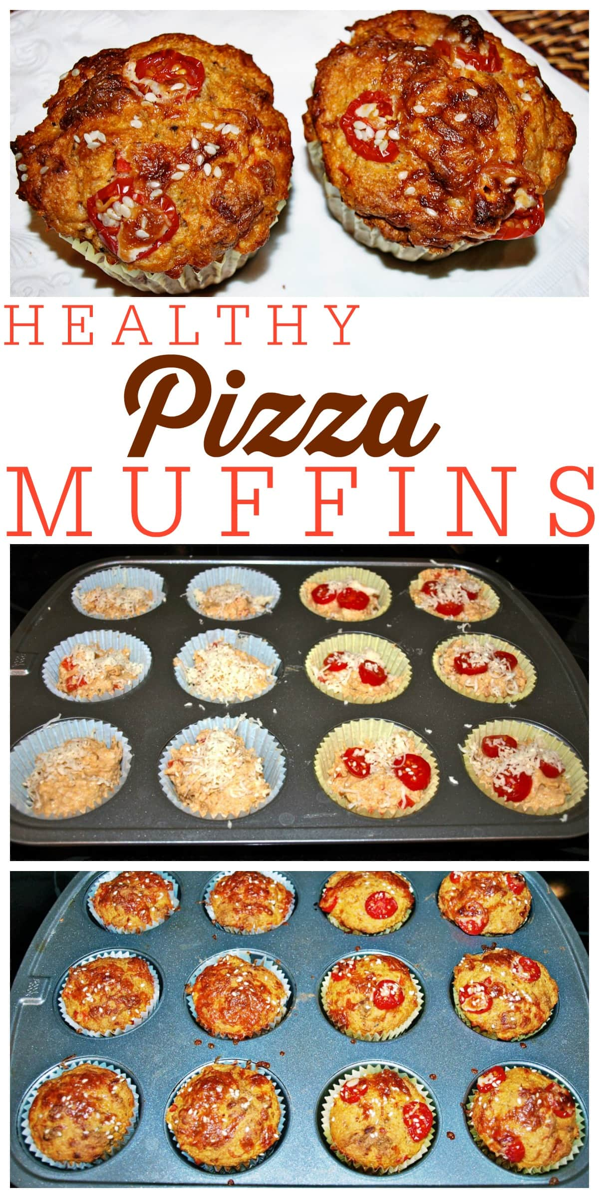 These Healthy Pizza Muffins are great for school lunches, snacks, or anytime you need a portable bite to eat! A great healthy and kid-friendly recipe .