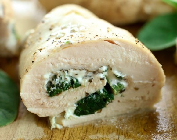 Spinach and Goat Cheese Stuffed Chicken breast recipe
