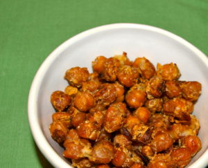 Healthy Snack Idea:  Parmesan Roasted Chickpeas