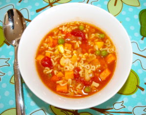 Toddler Eats:  Alphabet Vegetable Soup