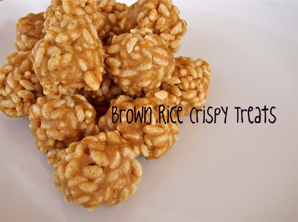 Brown Rice Crispy balls are healthier than traditional Rice Krispie ...