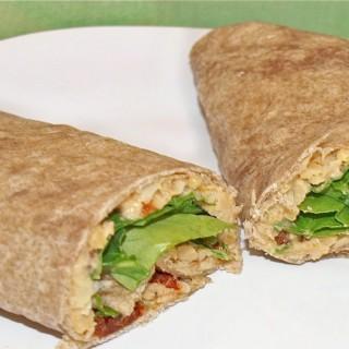 Vegan Chickpea Tomato Wrap