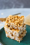 Healthier Than Rice Krispie Treats-a stack of 3 cereal bars