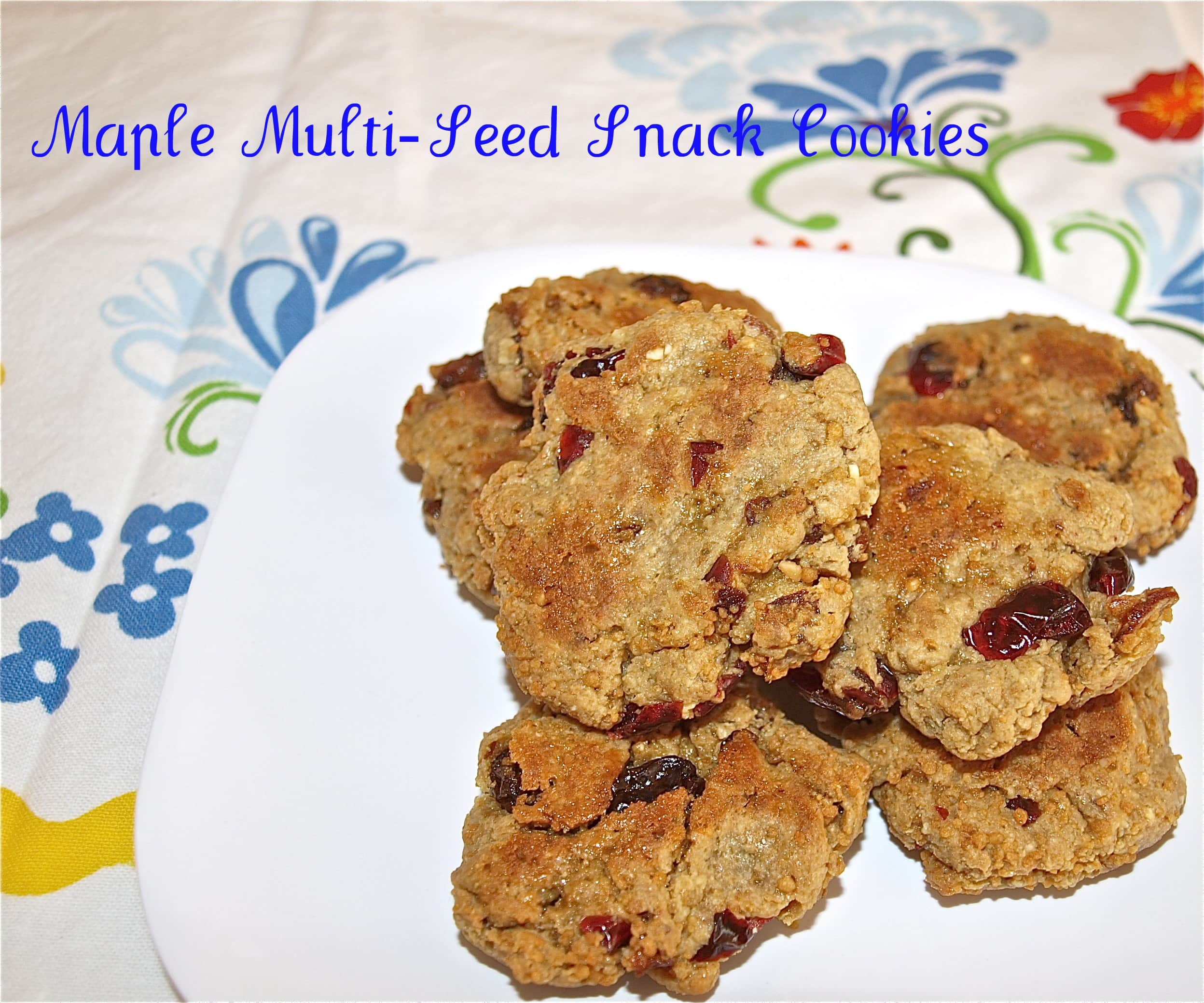Maple Multi-Seed Snack Cookies (Nut and Gluten-Free!)