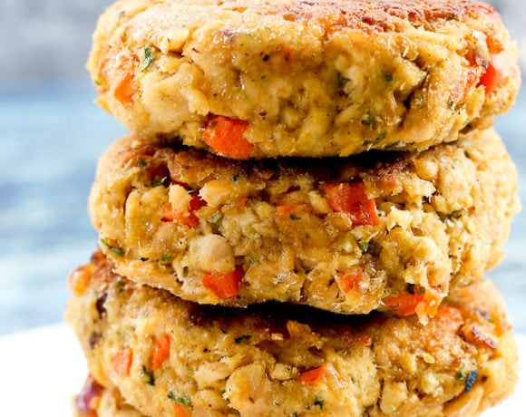 Salmon Cakes Recipe 4 stacked up
