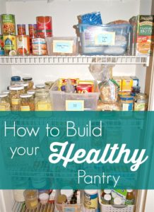 Are you ready for you and your family to eat healthier? Start building your healthy pantry now. Healthy eating comes easier when you have a well-stocked, healthy pantry! This post has a great list of foods to get your started.