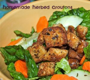 Homemade Herbed Croutons