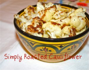 Simply Roasted Cauliflower