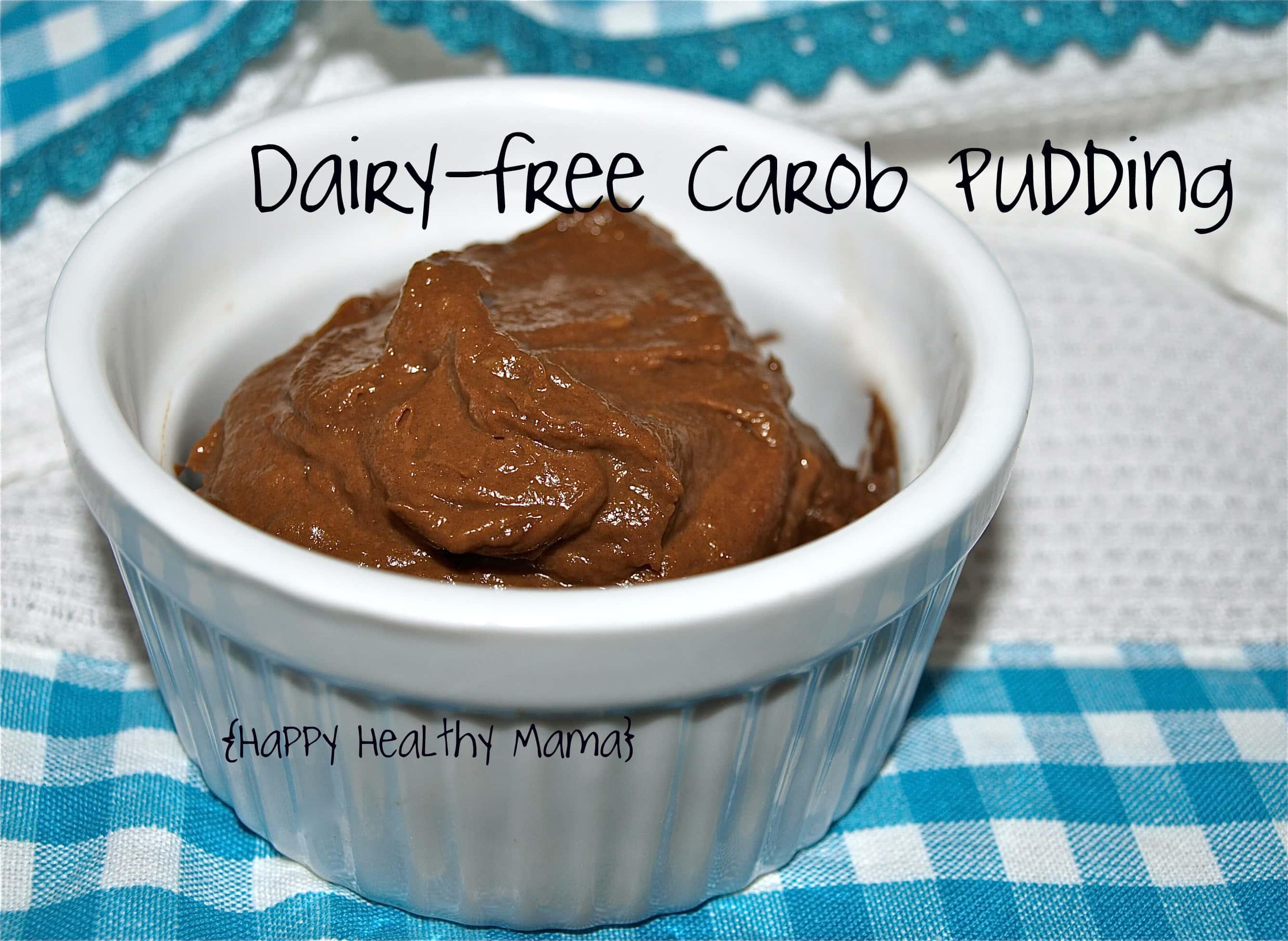 Dairy-Free Carob Pudding - Happy Healthy Mama