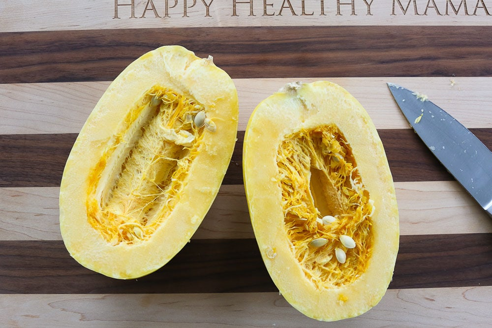 How To Cook Spaghetti Squash and how to cut spaghetti squash first
