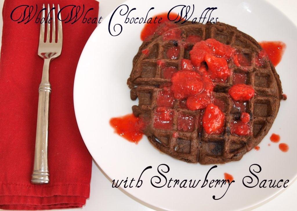 whole wheat chocolate waffles