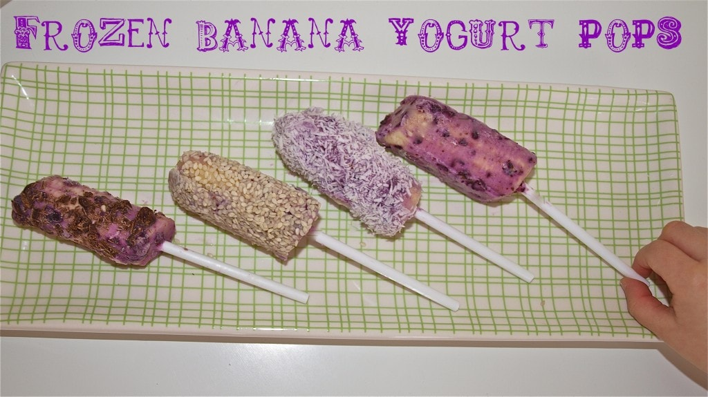 Healthy Snack Idea: Frozen Banana Yogurt Pops