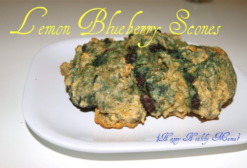 Vegan Lemon Blueberry Scones
