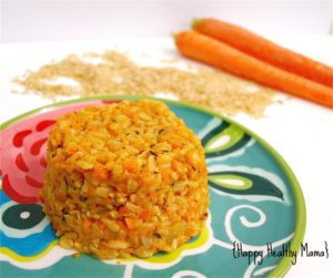 Creamy Carrot Brown Rice Risotto