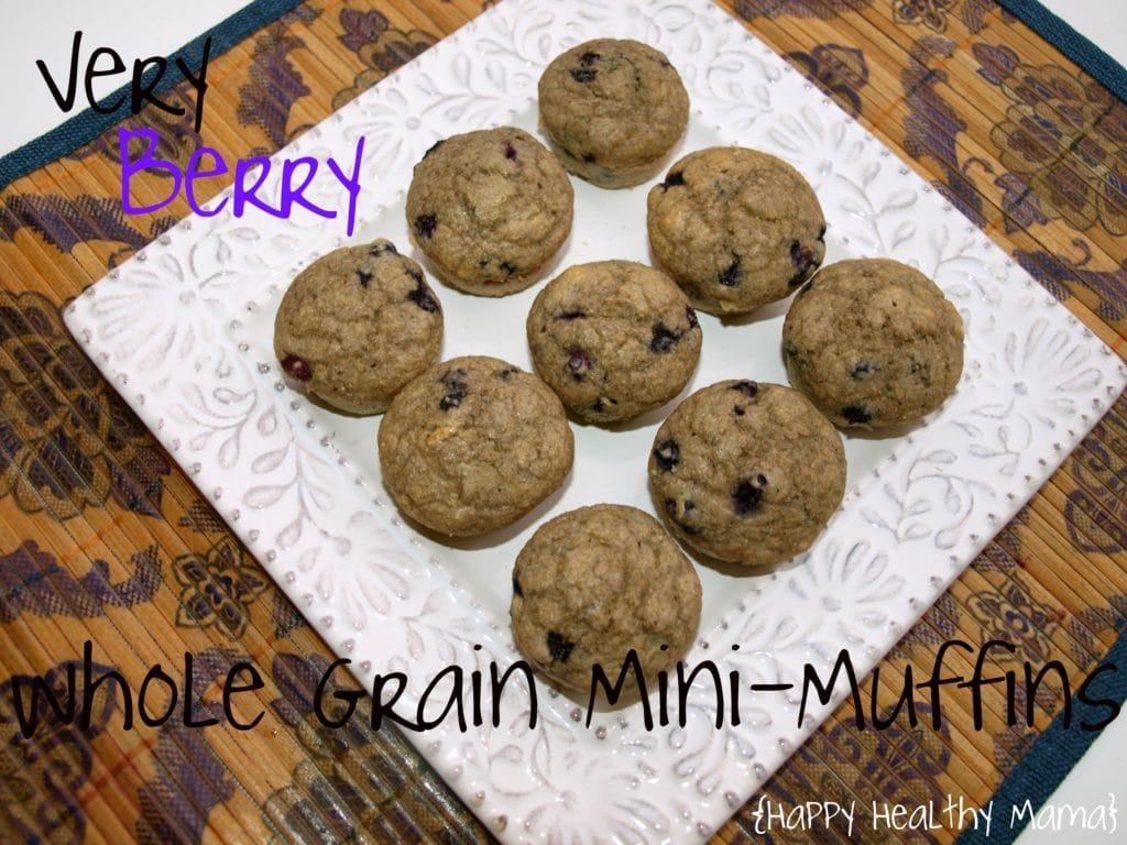 Very Berry Whole Grain Mini-Muffins