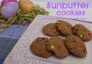 Sunbutter Cookies with Chocolate Sunflower Seed Drops
