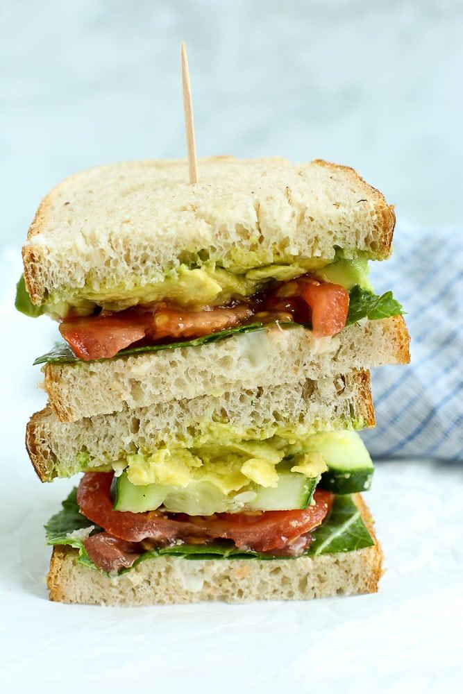 The Best Veggie Sandwich stacked up