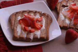 Strawberry Creme Fraiche Toast {Guest Post}
