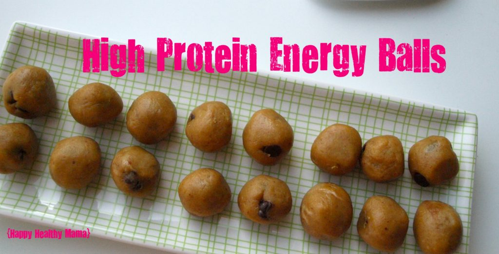 """High Protein Energy Balls (aka """"peanut butter balls"""") A quick and healthy snack!"""