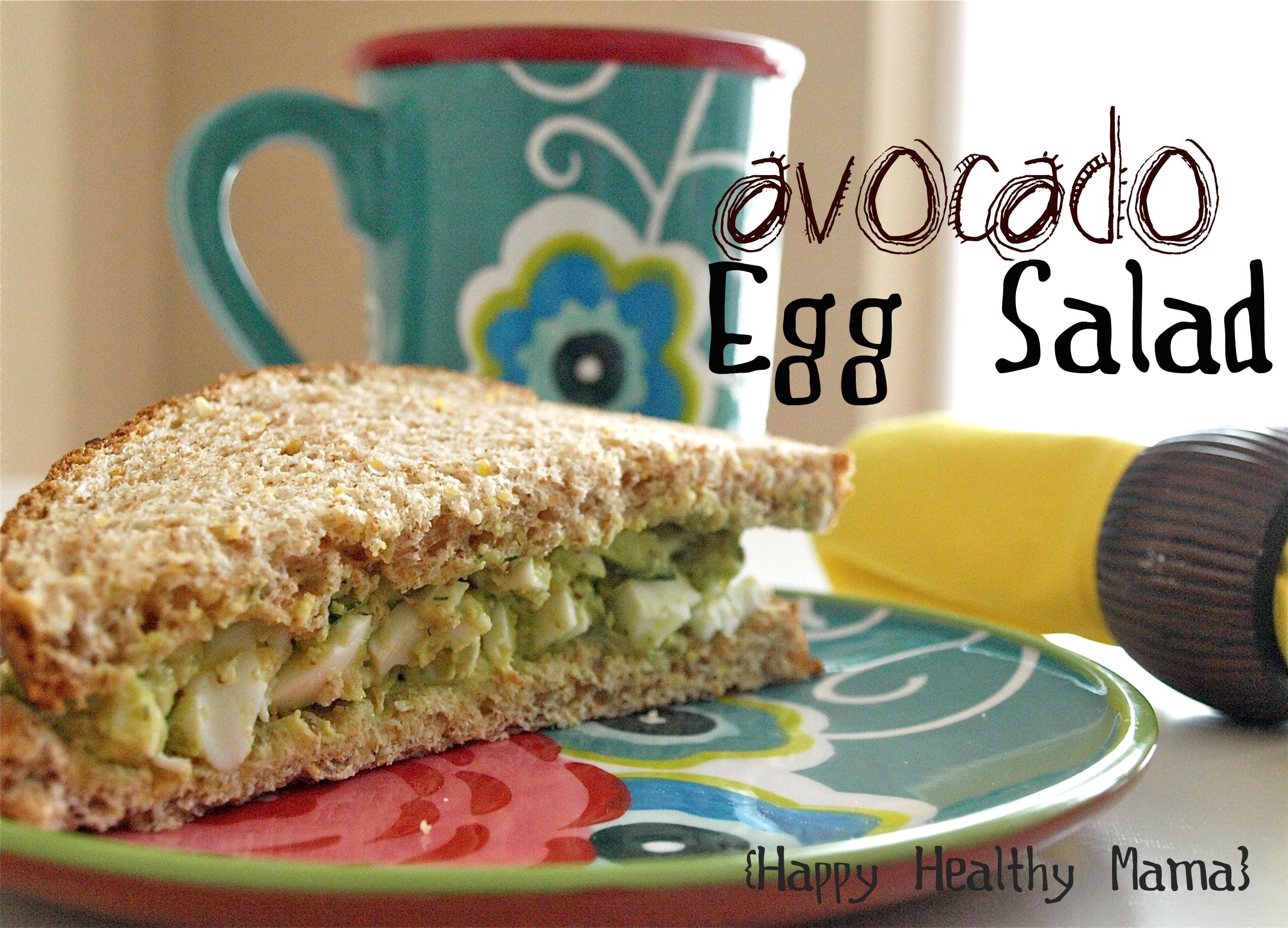 Avocado Egg Salad No Mayo Happy Healthy Mama