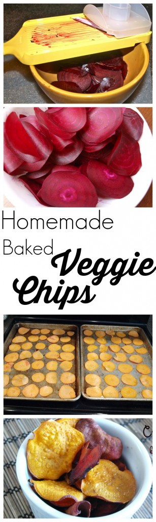 Make your own veggie chips at home! These healthy baked chips are crispy and delicious! One of my family's tried and true recipes.