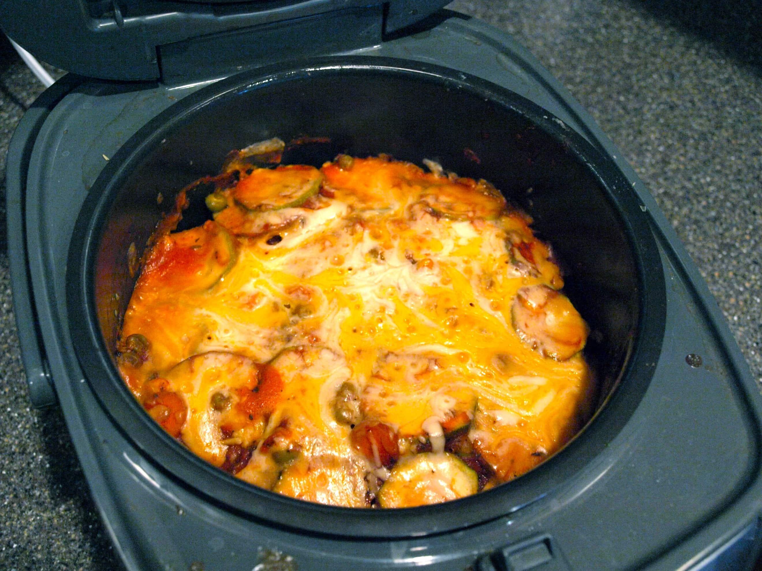 Layered Vegetable Crockpot Casserole