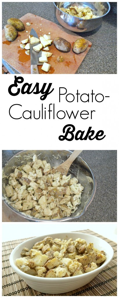 This Potato Cauliflower Bake is a great side dish! Quick and easy to prepare and my kids love it!