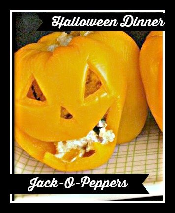 Try these healthy Jack-o-peppers for your Halloween Dinner this year!