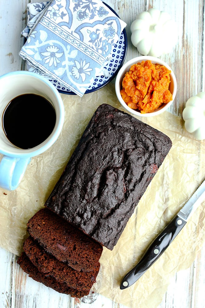 Pumpkin Molasses Quick bread recipe with pumpkin and molasses ingredients
