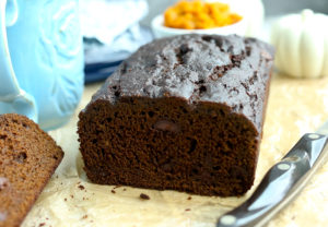 Healthy Pumpkin Molasses Quick Bread with Chocolate Chips