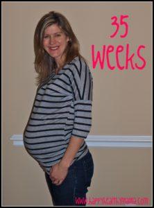 My pregnancy:  35 weeks