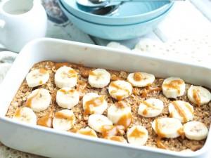 Banana Peanut Butter Baked Oatmeal