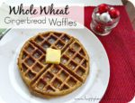 Whole Wheat Gingerbread Waffles are a healthy, yet fabulous holiday breakfast! The perfect Christmas morning breakfast! You can even make the batter the night before and they are ready to go in the morning! My whole family loves these healthy waffles.