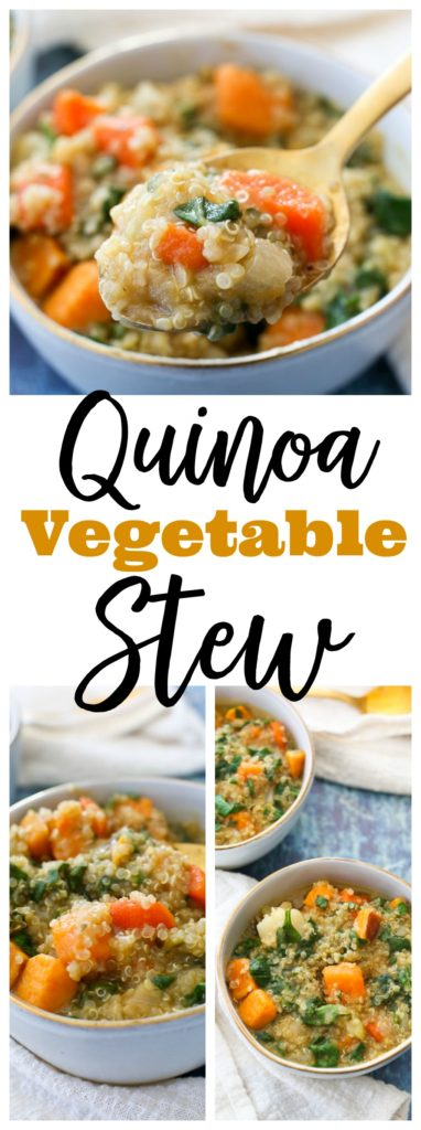 quinoa vegetable stew recipe #vegan #glutenfree #healthy #weeknightdinner