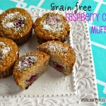 Grain-free raspberry coconut muffins