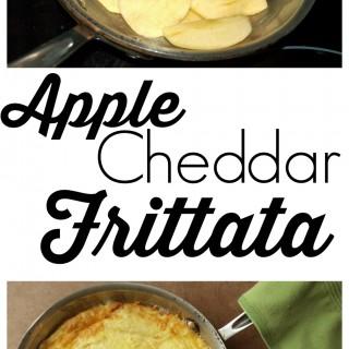 Apple cheddar frittata