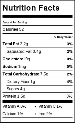 Sugar-free-banana-peanut-butter-cookies-nutritional-label