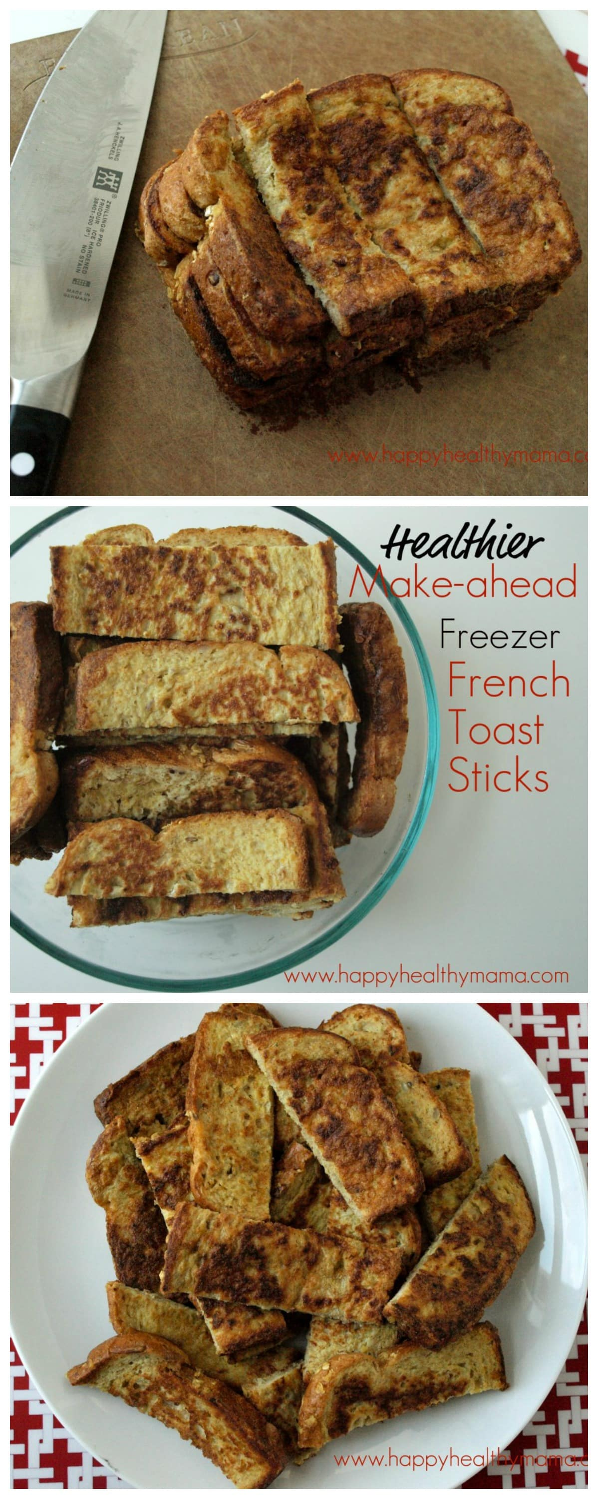 Healthier make ahead frozen french toast sticks happy healthy mama skip the freezer section at the grocery store and make your own healthier french toast sticks solutioingenieria Choice Image