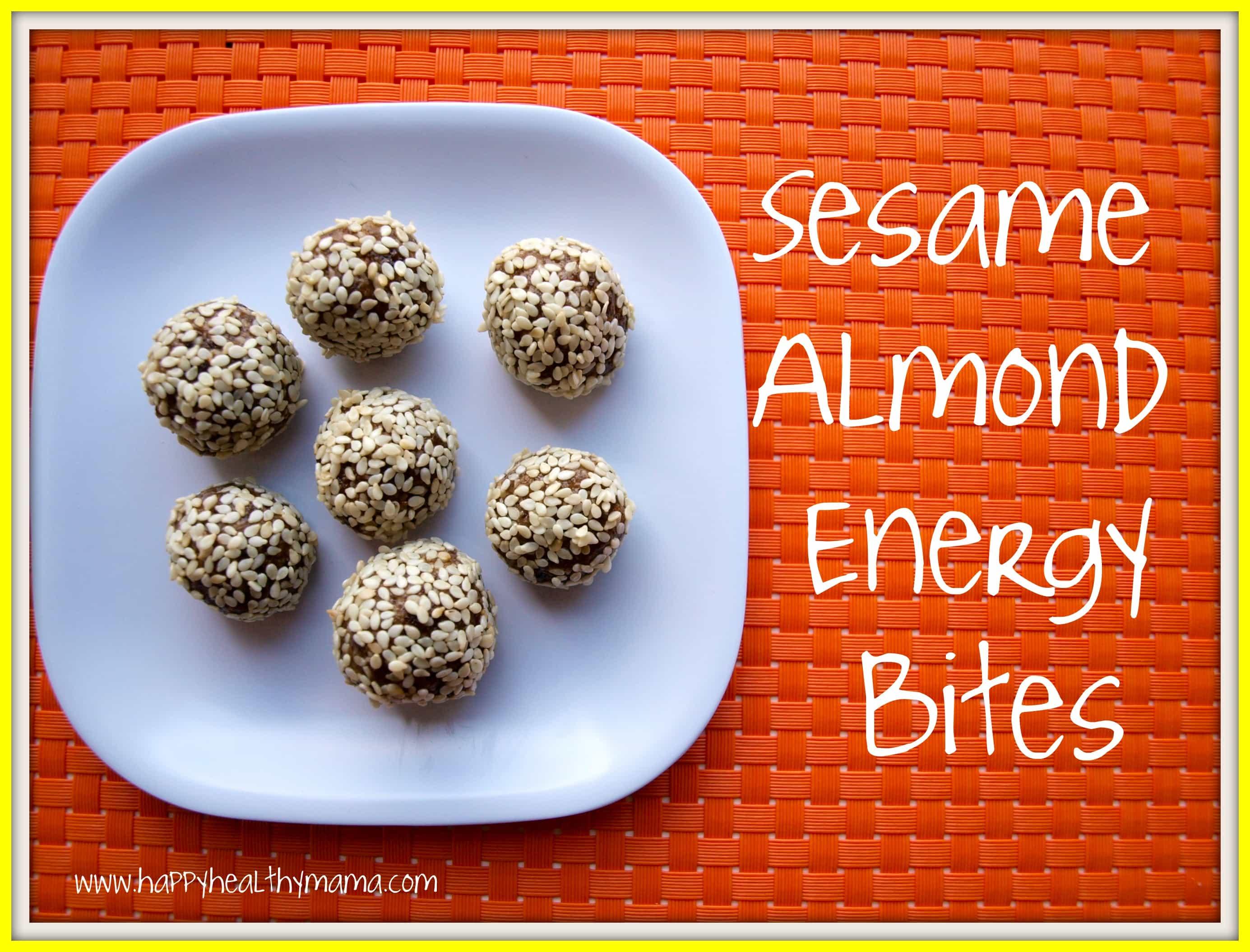 Sesame almond energy balls