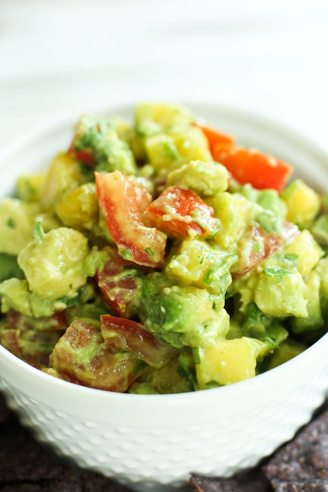 Pineapple Avocado Salsa Recipe with chips