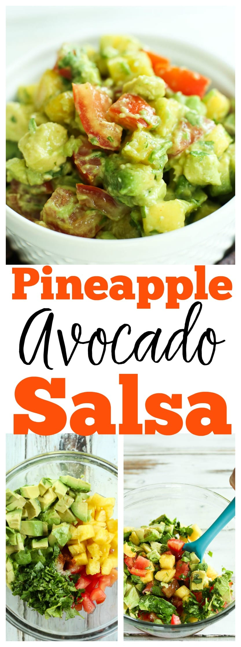 Pineapple Avocado Salsa Recipe | healthy, gluten-free, vegan salsa that is fantastic on everything from veggie burgers to chicken to fish!