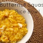 Butternut squash rice bowl
