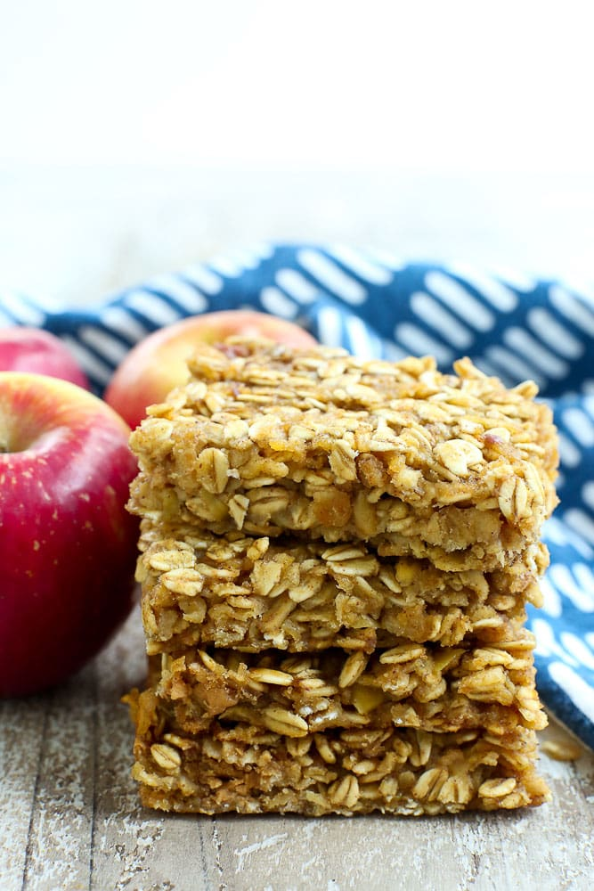 Apple Peanut Butter Snack Bars Recipe