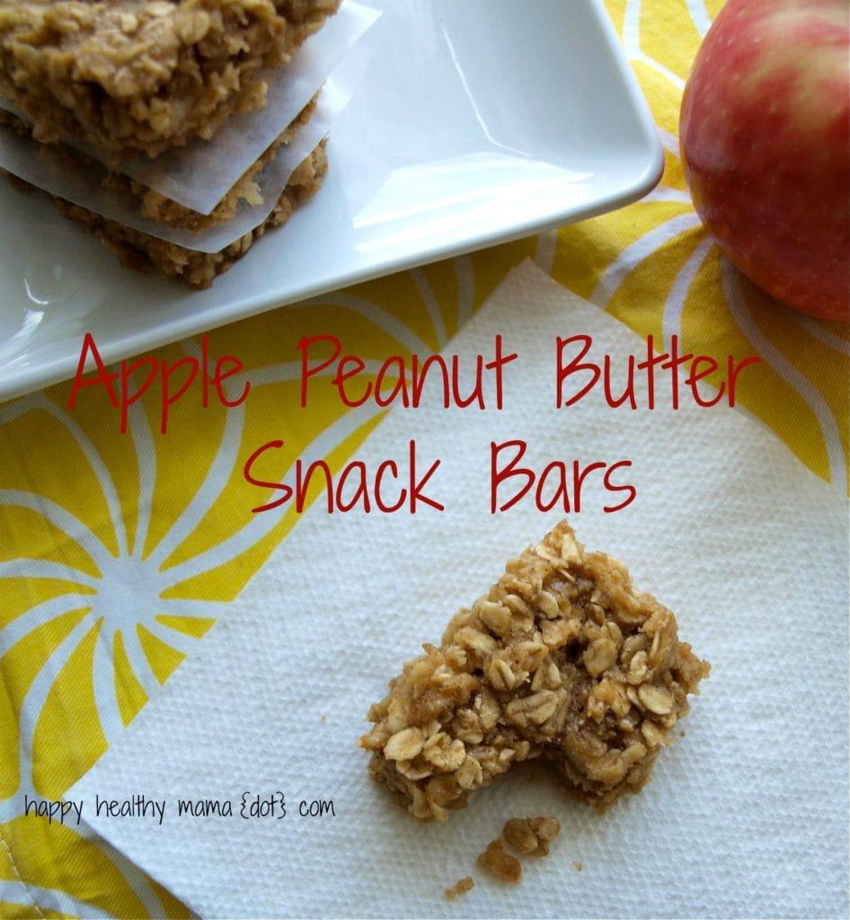 Apple Peanut Butter Snack Bars--no flour, no oil, and no refined sugar ...